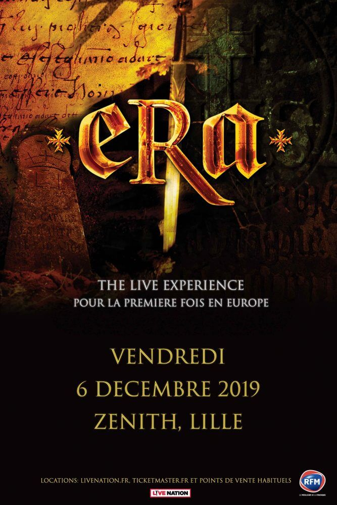 ERA en concert au Zénith de Lille le vendredi 6 décembre 2019 cacestculte