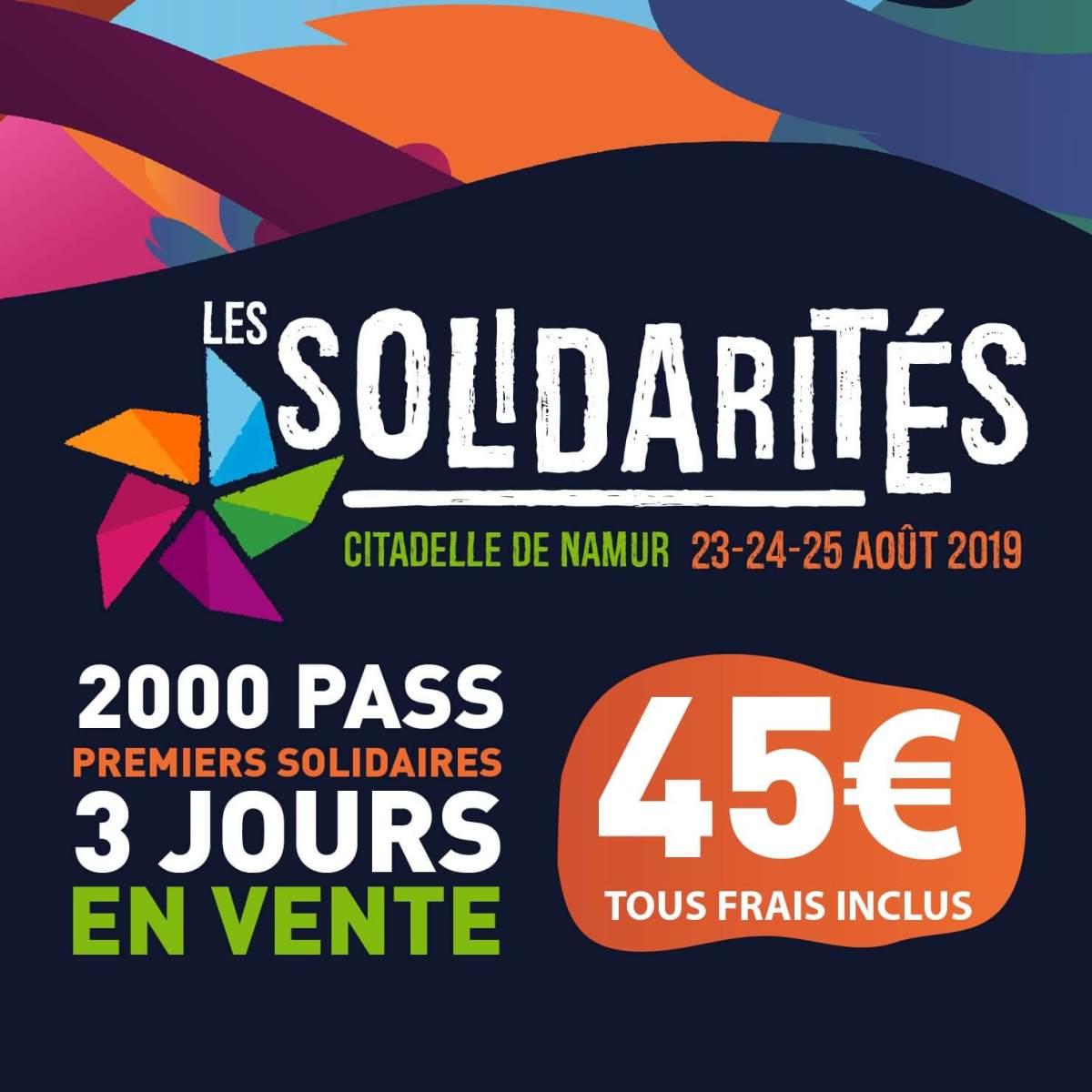Les Solidarités 2019 à Namur 2000 pass premiers Solidaires disponibles cacestculte