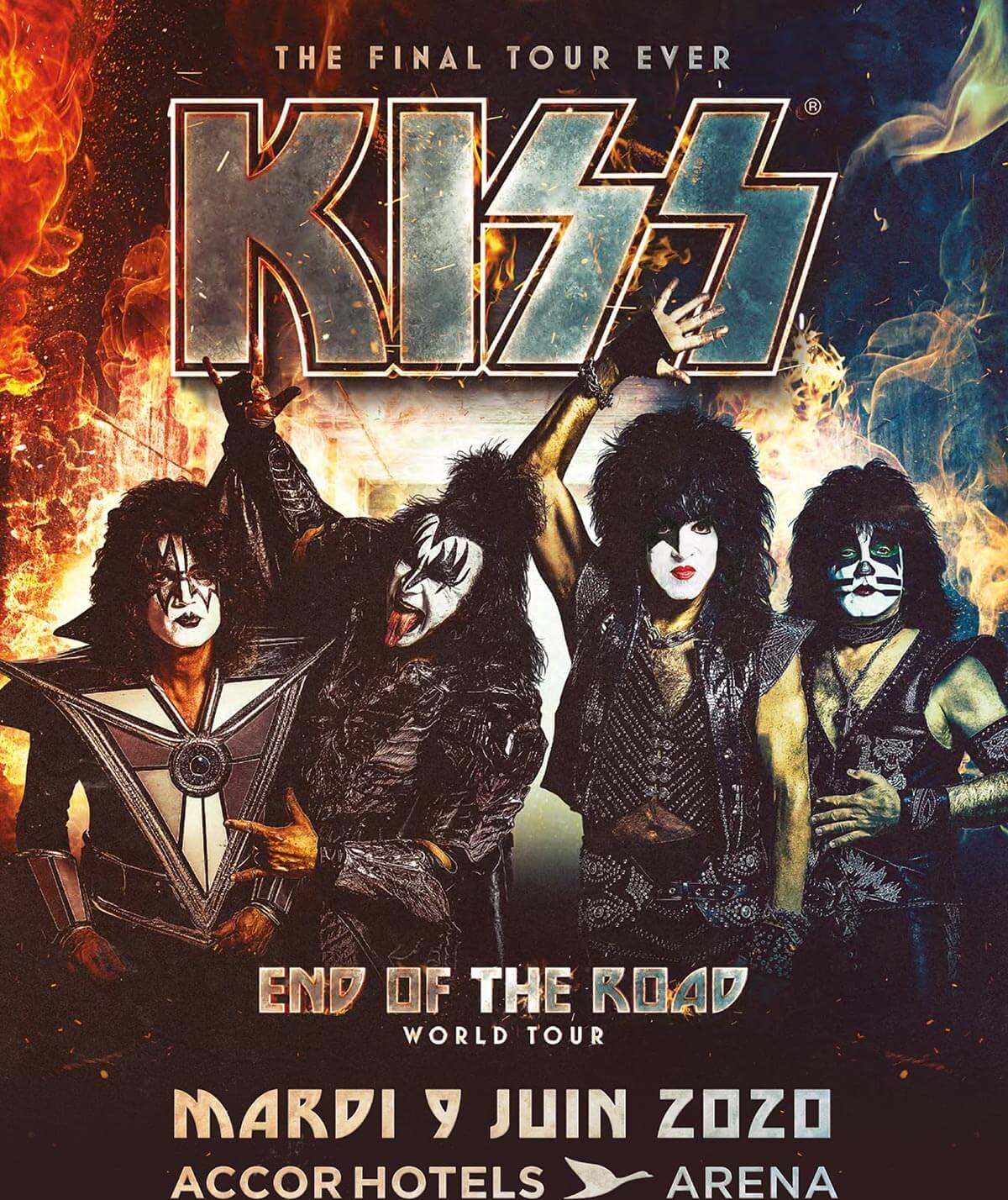 Kiss en concert à l'AccorHotels Arena le 9 juin 2020