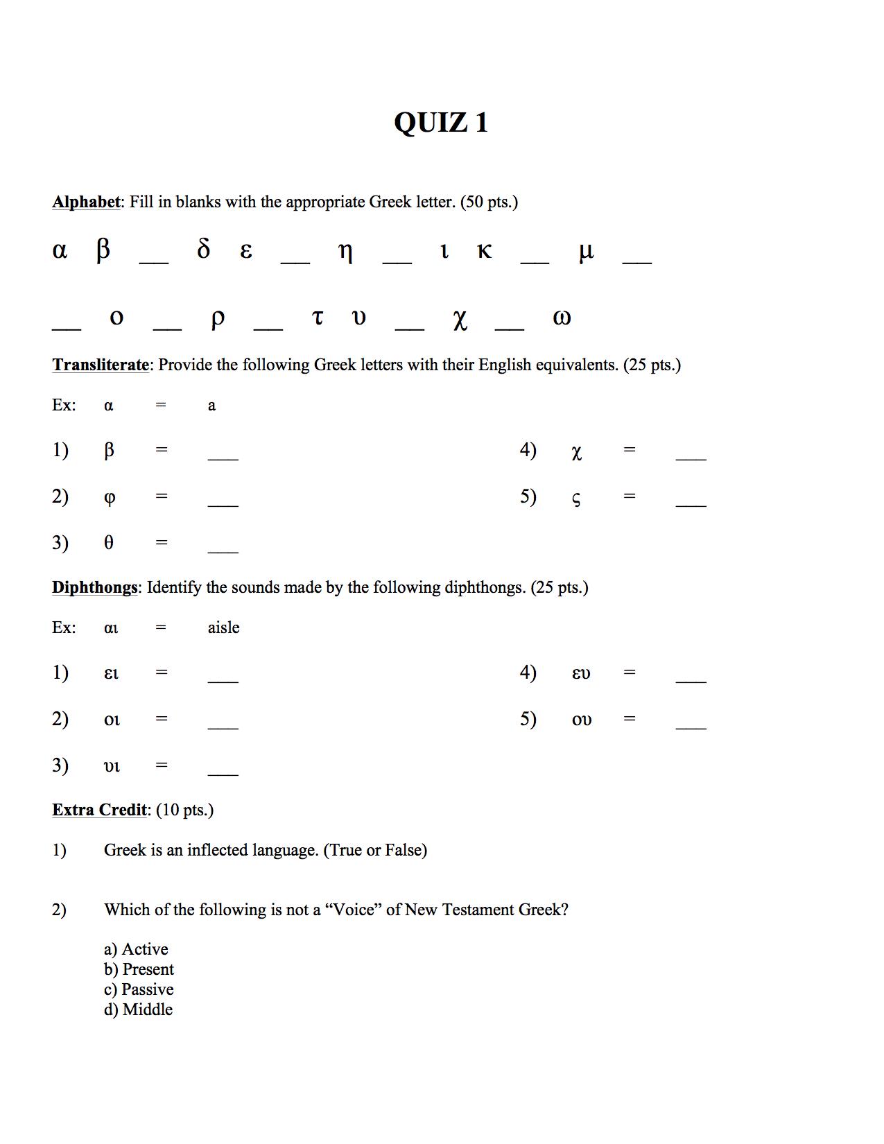 Handouts Tutorials Homework