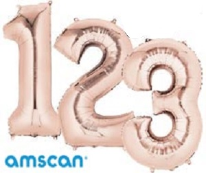 Large Helium Filled Number Balloons
