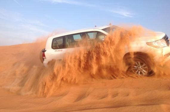 Dubai Desert Safari by Camel and 4x4 Jeep with BBQ Dinner with Live Belly Dance