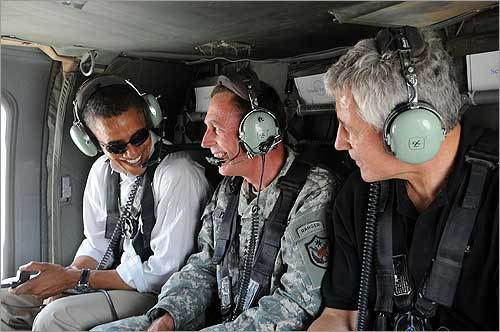 Obama talked to military officials in Iraq during his July tour of the country. Obama plans to have all U.S. troops removed from Iraq by 2012.