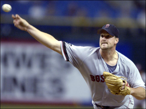Sept. 9, 2002 Derek Lowe got the win, going six innings and giving up three earned runs. Lowe was ejected in the seventh inning by umpire Jerry Crawford for hitting Felix Escalona. Grady Little was shown the gate by Crawford for arguing Lowe's ejection.