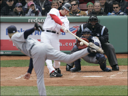 JD Drews First Fenway Blast