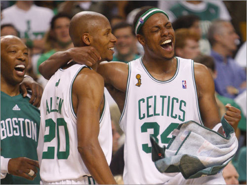 Cassel, Allen and Pierce are overjoyed.
