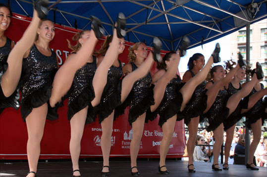 Being the first group to perform gave the Juke Box Dancers the opportunity to set the tone with a series of high kicks.