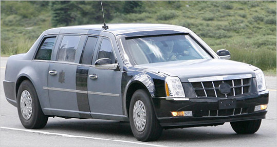 This armored Cadillac will likely replace the limousine President Bush has used since 2005.