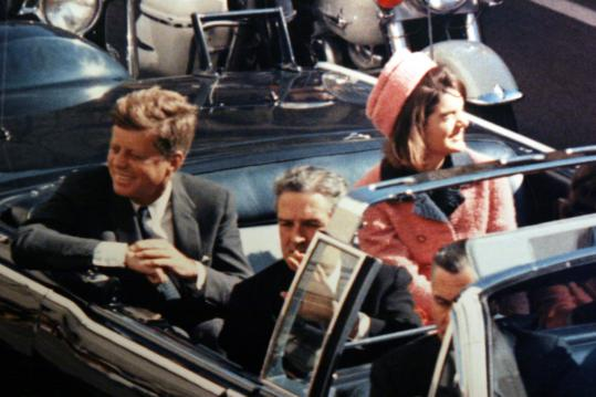 JFK and Jackie In Dealey Plaza