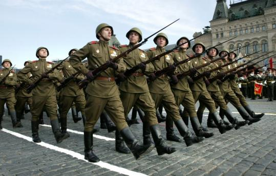 Russians on parade