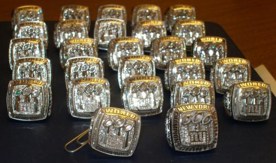 The Giants Super Bowl rings, valued at more than $170,000, were found in a Saugus safe deposit box after a search warrant was issued.