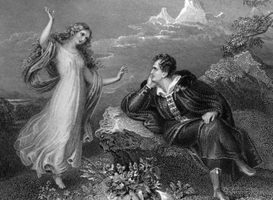 George Gordon Byron was famous for his love affairs, his poetry, his extravagances, and his beauty.