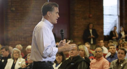 Mitt Romney, at UNH yesterday, said if elected, he would pursue more oil drilling, as well as natural gas and nuclear energy.