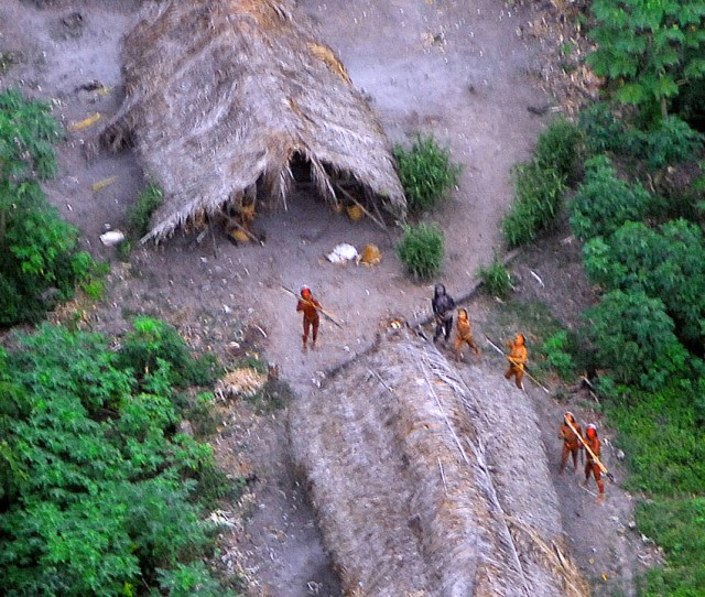 Uncontacted Tribe Photographed In Brazil Members Of An Unknown Amazon