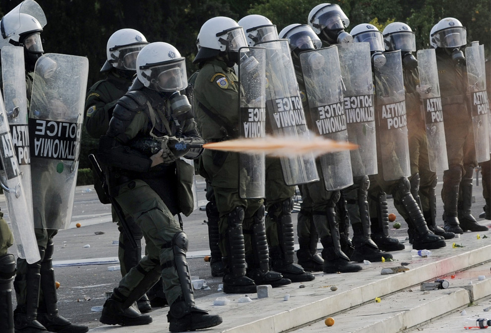 riot police in athens greece