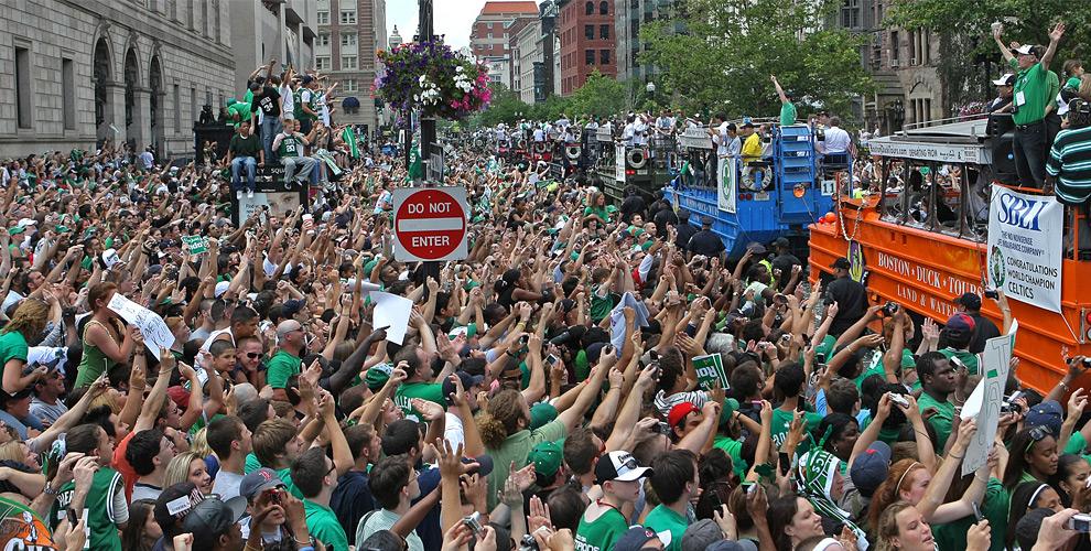 Image result for 2008 celtics championship parade