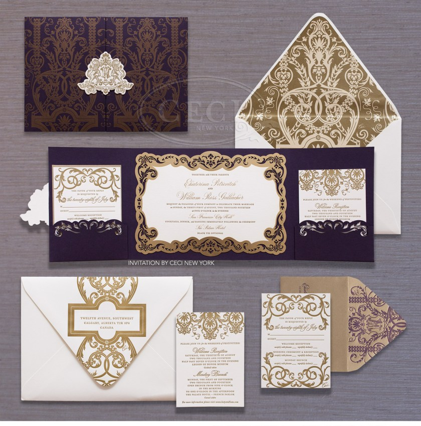Luxury Wedding Invitations By Ceci New York Our Muse Old World Dreamy
