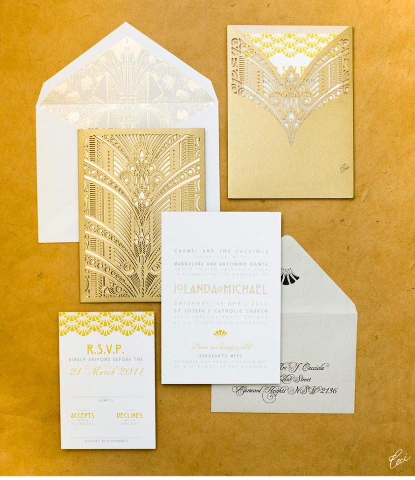 Luxury Wedding Invitations By Ceci New York Our Muse Australian Art Deco
