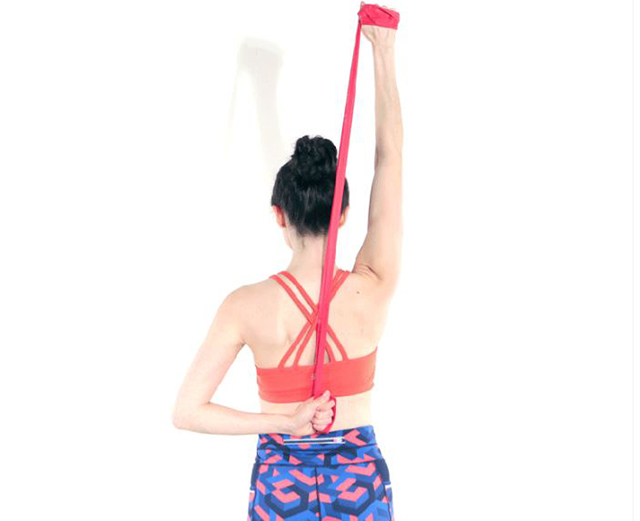 Exercise to stretch the triceps (Andrew Lyman-Clarke)