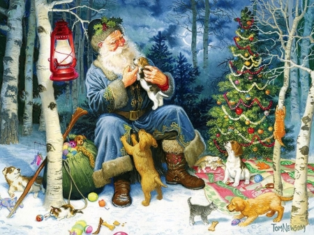 Forest Santa Other Amp Abstract Background Wallpapers On