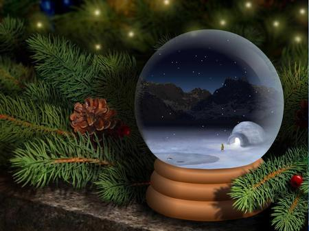 Snow Globe 3D And CG Amp Abstract Background Wallpapers On