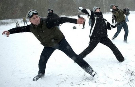 Image result for snowball attack on a house images