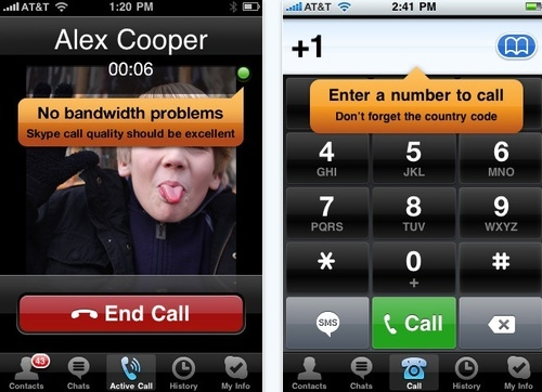 Skype 2.0 With 3G Calling Lands on iPhone