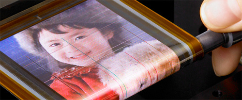 Sony's Flexible OLED is Thinner Than a  Strand of Hair