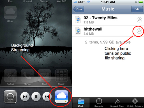 Apple Allows iTunes Streaming to iPhone With iDisk