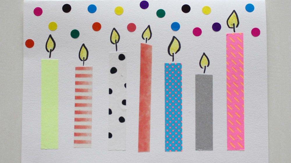 tuto diy une carte d anniversaire en