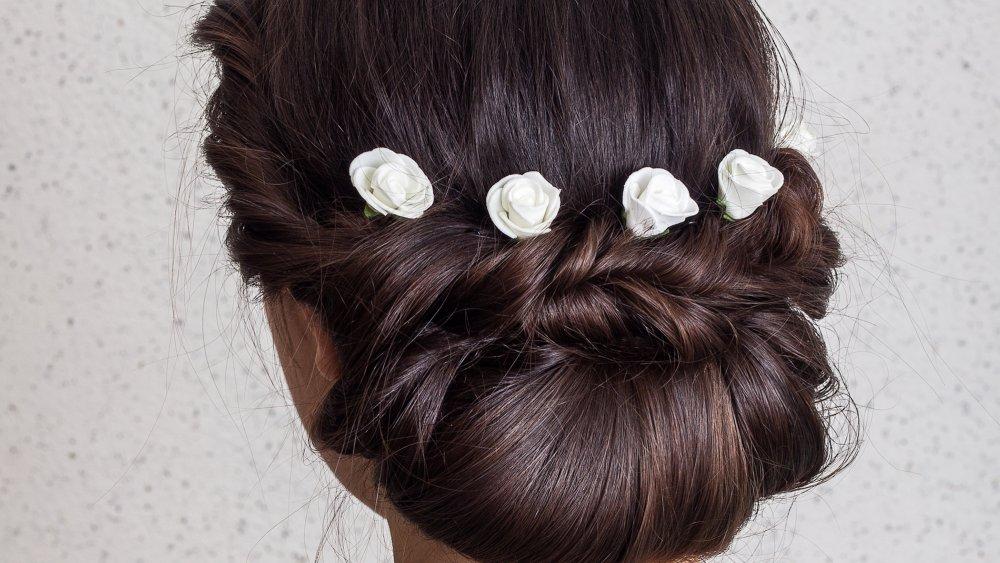 tuto coiffure de mariage un chignon