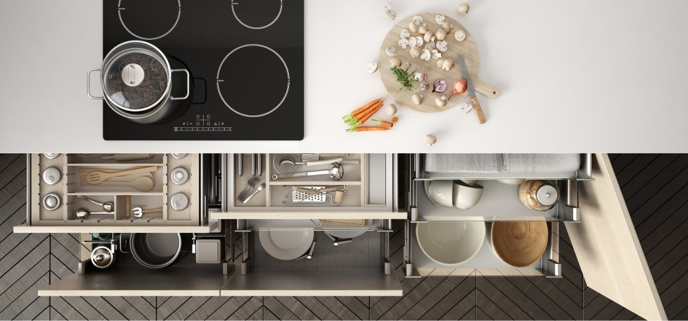 rangement tiroir et placard de cuisine