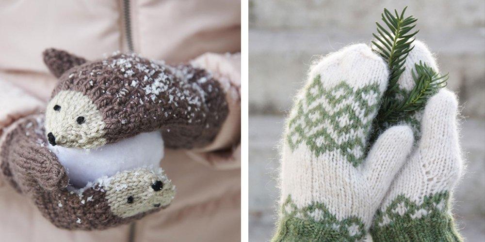 12 Patrons Pour Tricoter Des Moufles Marie Claire