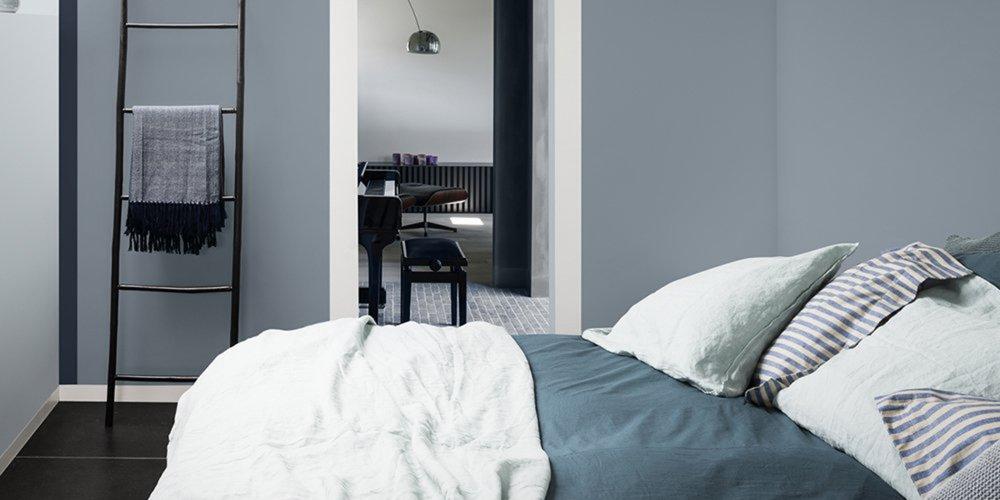 chambre bleue dulux valentine