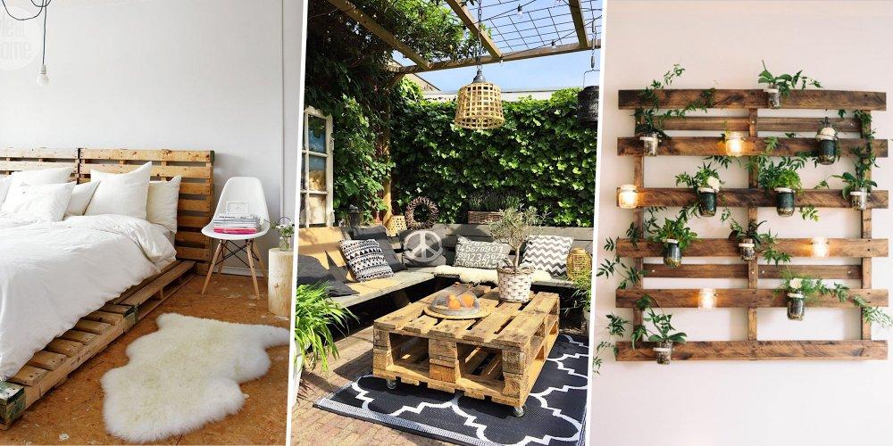 seules quelques notions de bricolage vous seront necessaires pour transformer des palettes de bois en meubles et accessoires deco