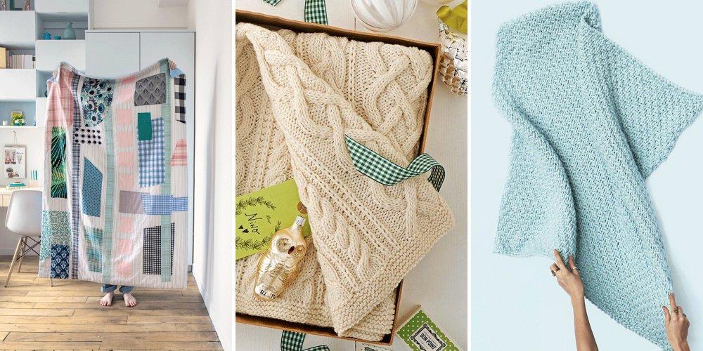 tricoter ou coudre une couverture