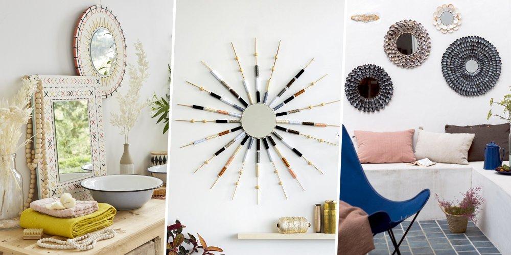 les miroirs permettent de jouer avec la lumiere et l espace de nos interieurs decouvrez 20 idees pour fabriquer un miroir unique
