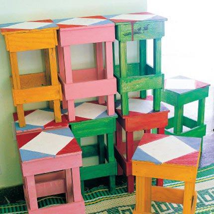 meubles peints avec du vernis mat