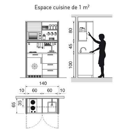 plan de cuisine l amenager de 1m2 a