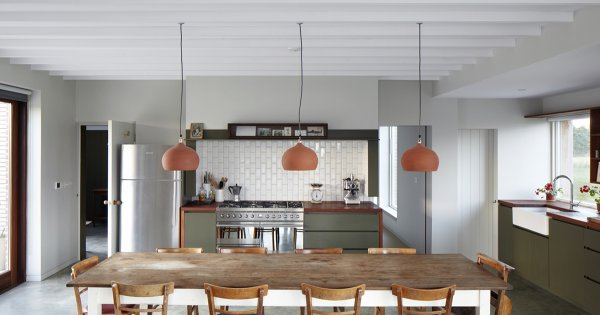 le beton cire dans la cuisine ou l