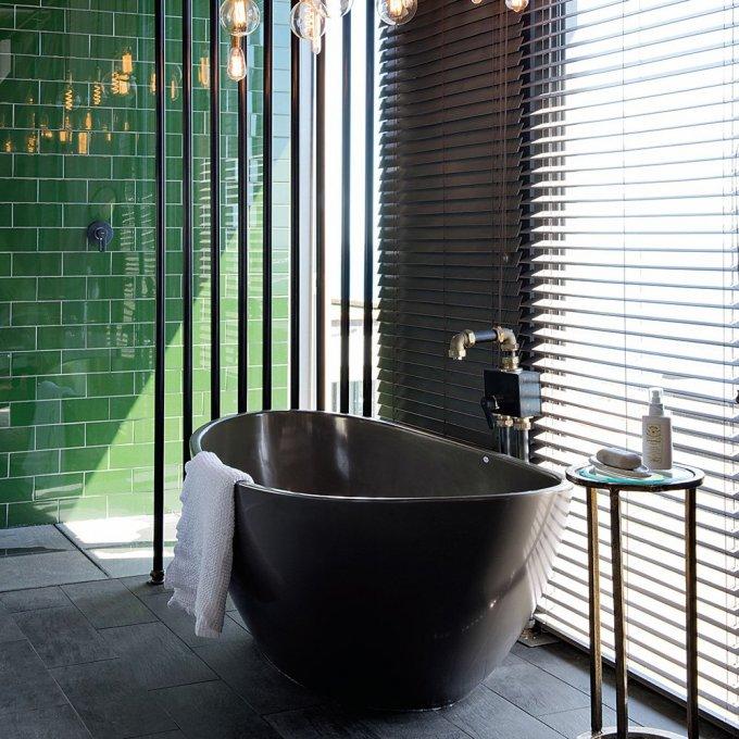 salle de bains verte nos inspirations