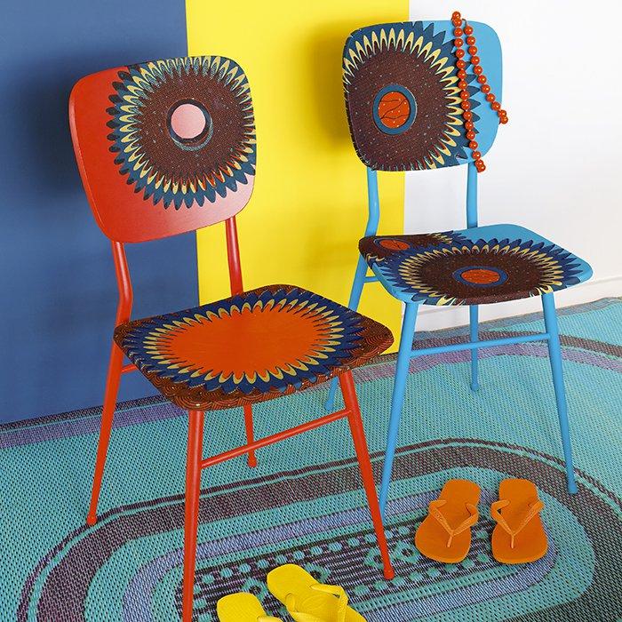 Des Chaises Dcores De Tissu Africain Marie Claire