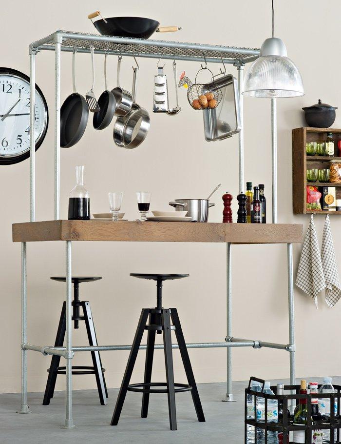 un bar modulable dans la cuisine