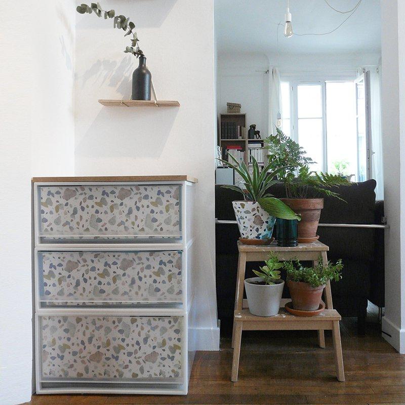 relooker un meuble avec du papier