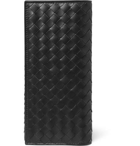 Bottega Veneta Intrecciato Leather Travel Wallet