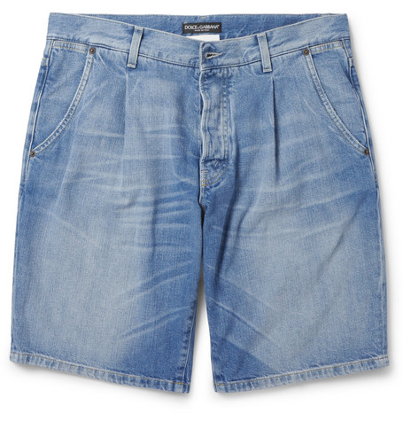 Dolce & Gabbana Regular-Fit Washed-Denim Shorts