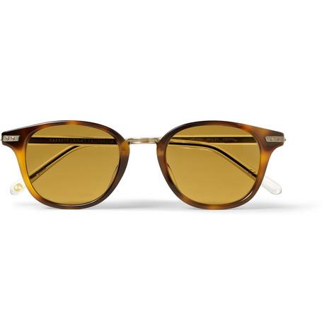 Garrett Leight California OpticalVenezia Tortoiseshell Acetate Sunglasses