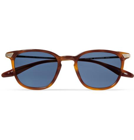 Barton PerreiraDean Square-Frame Acetate and Metal sunglasses