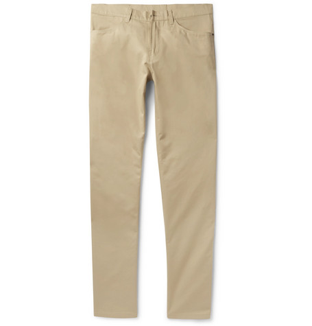 [Dunhill- Slim-Fit Brushed-Cotton Twill Trousers £150]