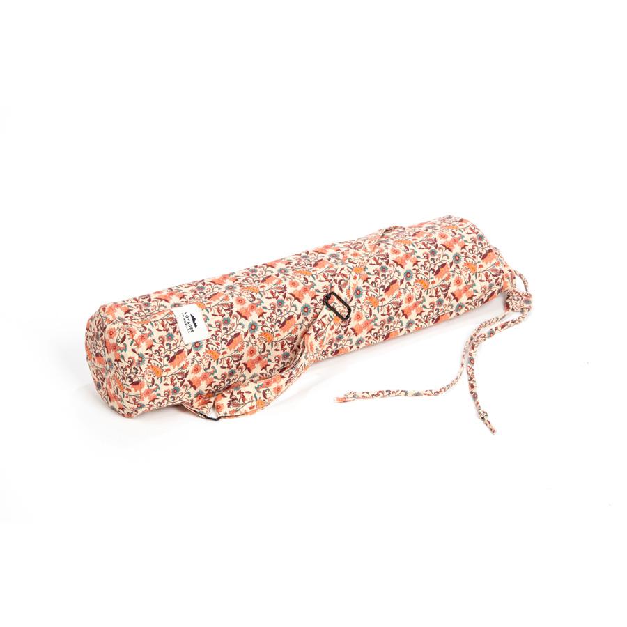 sac fleuri pour tapis de yoga